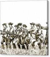Field Of Battle Soldier Sketch Canvas Print