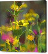 Field Of Flowers Paint Canvas Print