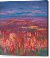 Field Of Heather Canvas Print