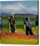 Field Workers In Watsonville - Study Canvas Print
