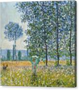 Fields In Spring, 1887 Canvas Print