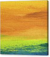 Fields Of Gold 2 - Abstract Summer Landscape Painting Canvas Print