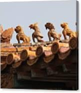 Fierce Guardians Of The Forbidden City Canvas Print