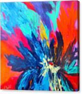 Fiery Flower Canvas Print
