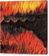 A Hot Valley Of Flames Canvas Print