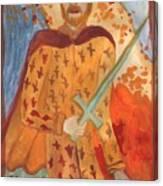 Fiery King Of Swords Canvas Print