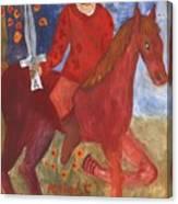 Fiery Knight Of Swords Canvas Print