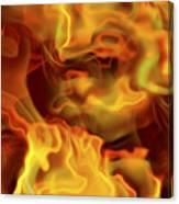 Fiery Mist Canvas Print