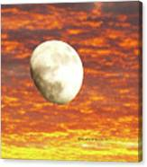 Fiery Moon Canvas Print