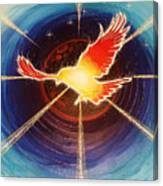 Fiery Raven Canvas Print