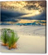 Fiery Sunrise At White Sands Canvas Print