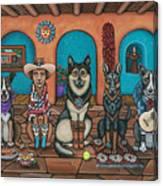 Fiesta Dogs Canvas Print