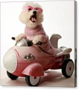 Fifi Is Ready For Take Off In Her Rocket Car Canvas Print