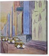 Fifth Ave At Dawn Canvas Print