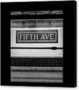 Fifth Ave Subway Canvas Print