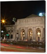 Fifth Avenue And Library Canvas Print