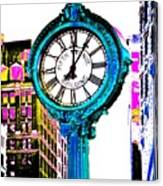 Fifth Avenue Building Clock New York  Canvas Print