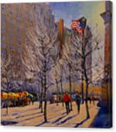 Fifth Avenue - Late Winter At The Met Canvas Print