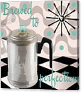 Fifties Kitchen Coffee Pot Perk Coffee Canvas Print