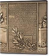 Fiftieth Anniversary Of The Christofle Company, 1842-1892 [reverse] Canvas Print