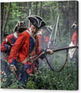 Fight In The Forest Bushy Run 1763 Canvas Print