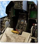 Fighter Jet Cockpit 01 Canvas Print