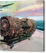 Fighter Jet Engine Canvas Print