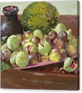 Figs And Cantaloupe Canvas Print