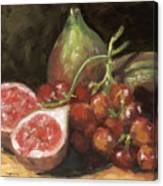Figs And Grapes Canvas Print