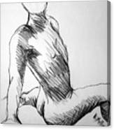 Figure Drawing 1 Canvas Print