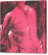 Figure in Red Canvas Print