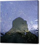 Figure In The Windshield Canvas Print