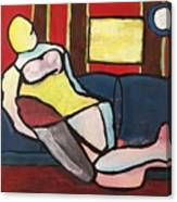 Figure On Couch Canvas Print