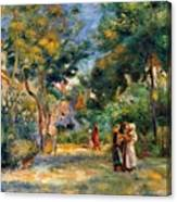 Figures In A Garden Canvas Print