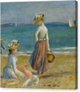 Figures On The Beach, 1890 Canvas Print