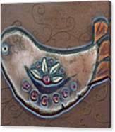 Filigree Bird Canvas Print