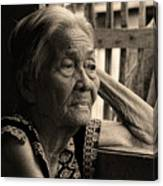 Filipino Lola Image Number 33 In Black And White Sepia Canvas Print