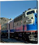 Fillmore And Western Railway Christmas Train 2 Canvas Print