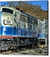 Fillmore And Western Railway Christmas Train 3 Canvas Print