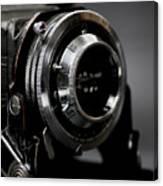 Film Camera In Black Canvas Print