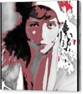 Film Homage Collage Eugene Robert Richee Photo Clara Bow 1 Circa 1927-2013 Canvas Print