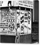 Film Homage Hard Core 1979 Porn Theater The Combat Zone Boston Massachusetts 197 Canvas Print