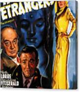 Film Noir Poster Three Strangers Canvas Print