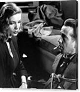 Film Noir Publicity Photo #2 Bogart And Bacall The Big Sleep 1945-46 Canvas Print