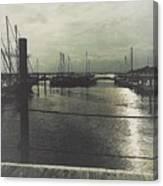 Filtered Marina Canvas Print