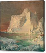 Final Study For The Icebergs Canvas Print