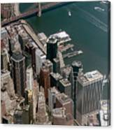 Financial District Nyc Aerial Photo Canvas Print