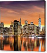 Financial District Sunset Canvas Print