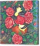 Finch Fancy Canvas Print