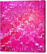 Find Ur Way Canvas Print